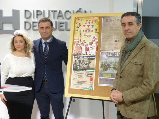 Gustavo Cuéllar junto al concejal de Turismo José Antonio Rodríguez y la diputada territorial y también concejala de Cultura Lourdes Garrido.
