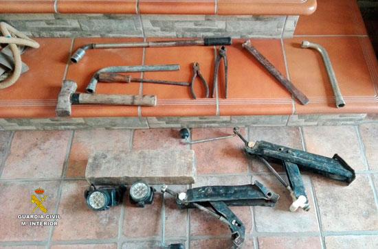 Imagen de las herramientas intervenidas.
