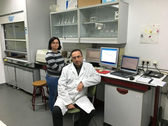 Lara León Gómez junto a Juan Manuel Mozo Llamazares.