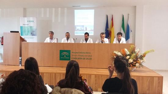 Imagen del curso de cirugía en el Hospital Infanta Elena.