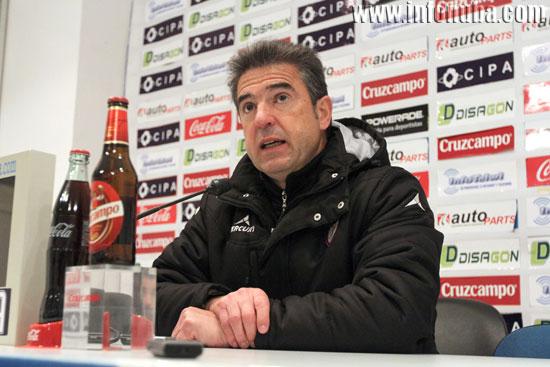 Gonzalo Arconada en rueda de prensa.