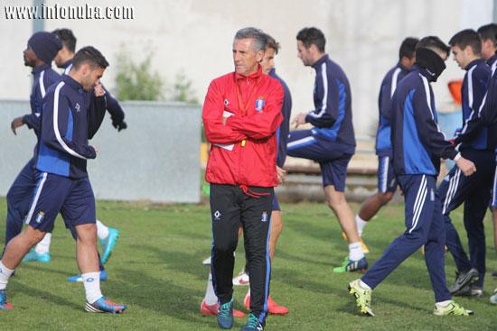 Alejandro Ceballos durante la sesión de entrenamiento de ayer