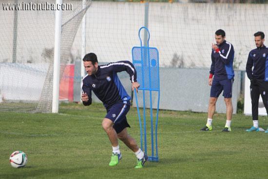 Imagen del entrenamiento de la jornada de ayer en la Ciudad Deportiva.