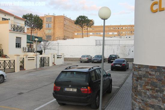Algunos de los estacionamientos cercanos al Hospital.