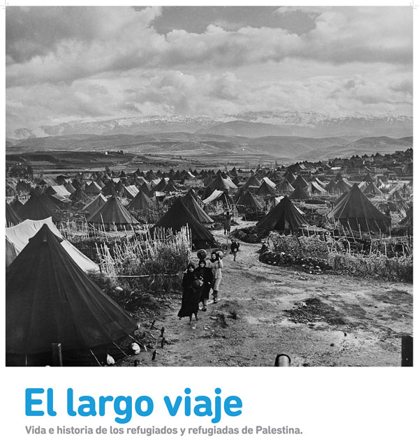 """Cartel de la exposición """"El largo viaje""""."""