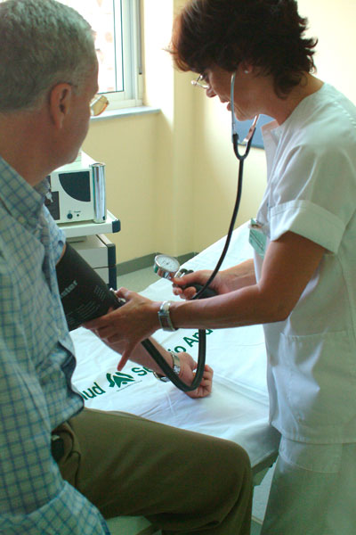 Imagen de un examen de salud.
