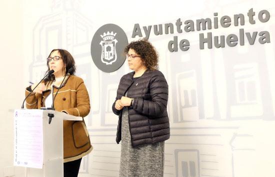 Alicia Narciso y Eva Salazar en rueda de prensa.
