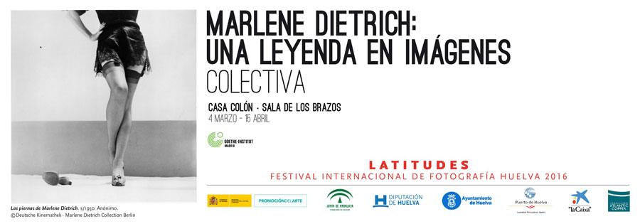 """Cartel de la exposición colectiva """"Marlene Dietrich, una leyenda en imágenes""""."""