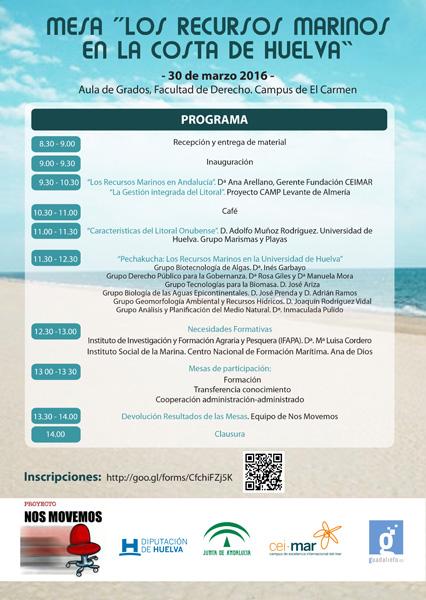 Cartel de la jornada 'Los recursos marinos en la Costa de Huelva'.