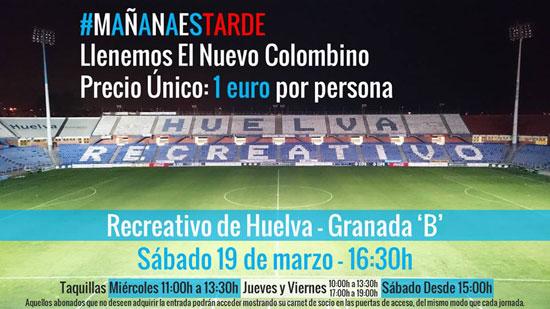 """Imagen de la campaña """"Mañana es tarde"""" del Real Club Recreativo de Huelva."""