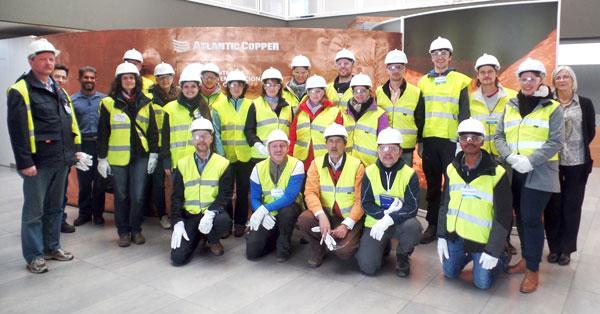 Visita a las instalaciones de Atlantic Copper.
