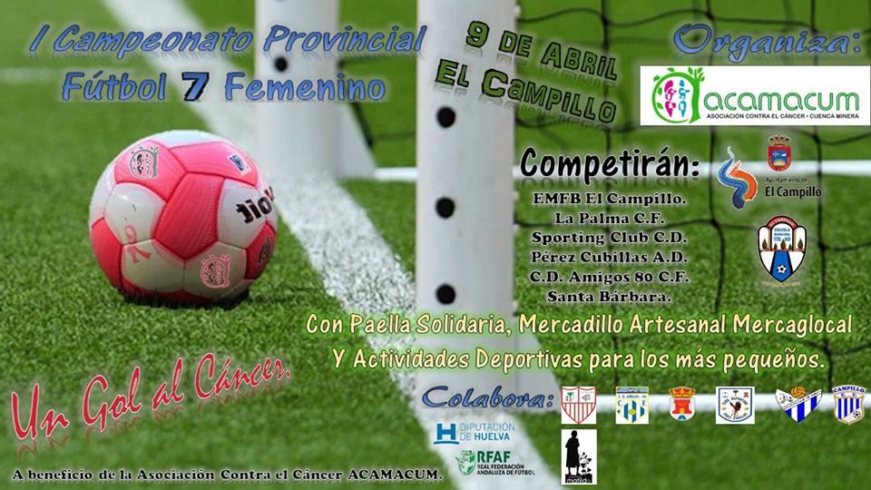 Cartel del I Campeonato Provincial de Fútbol 7 Femenino.