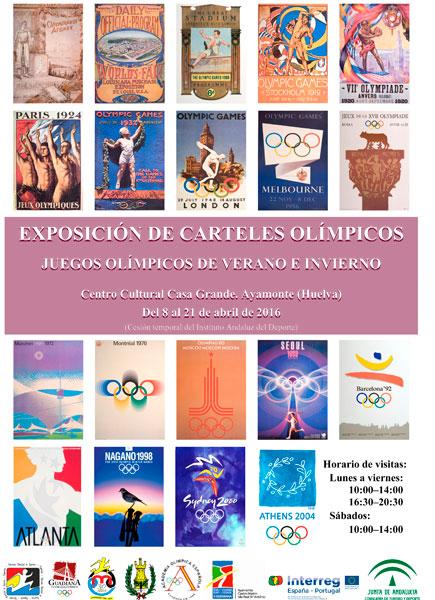 Cartel de la exposición de carteles olímpicos.
