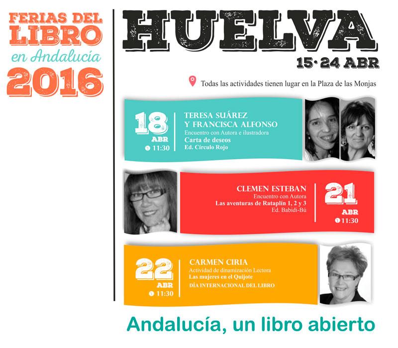 Programa infantil de la Feria del libro de Huelva.