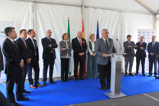 Intervención del Consejero de Economia en la inauguración de la nueva terminal del Puerto de Huelva.