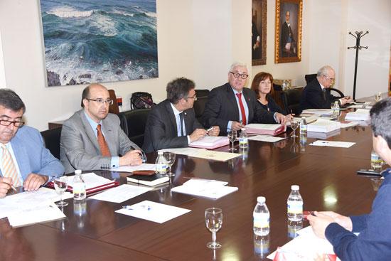 Imagen de la reunión del Consejo Social de la Universidad de Huelva .
