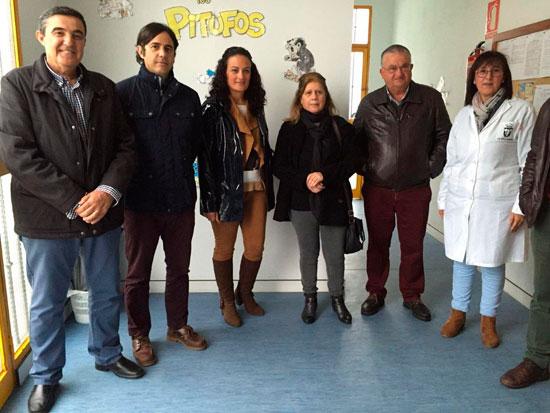 Imagen de la visita a la Escuela Infantil Los Pitufos de El Cerro de Andévalo