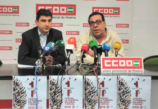 Emilio Fernández y Francisco Espinosa durante la rueda de prensa.