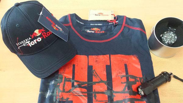 Imagen de un kit de la escudería Toro Rosso.