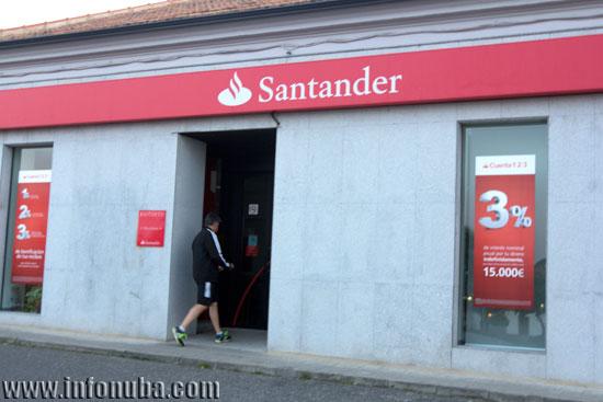 Imagen de una oficina del Banco de Santander.