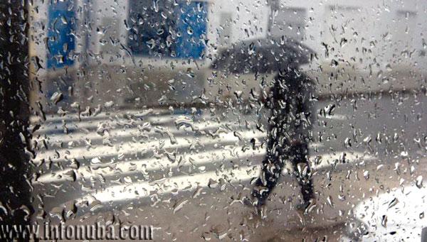 Imagen de lluvias en la provincia de Huelva.