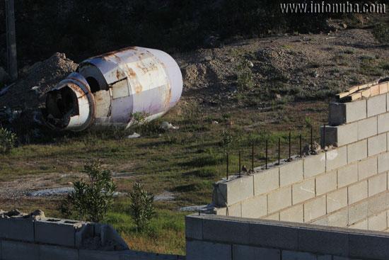 Imagen de uno de los restos de vehículos.