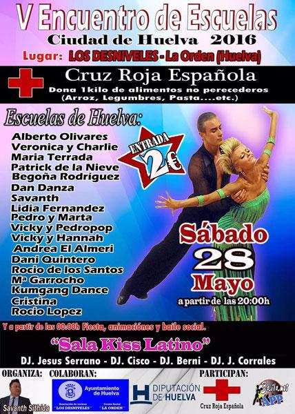 Cartel del V Encuentro de Escuelas de Baile Ciudad de Huelva.