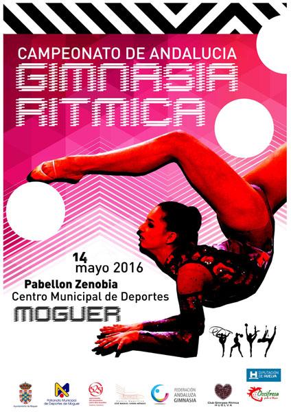 Cartel del Campeonato de Andalucía de Gimnasia Rítmica.