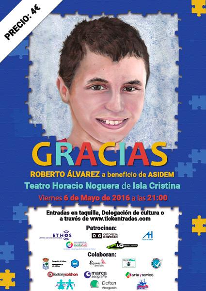 Cartel del concierto en Isla Cristina.