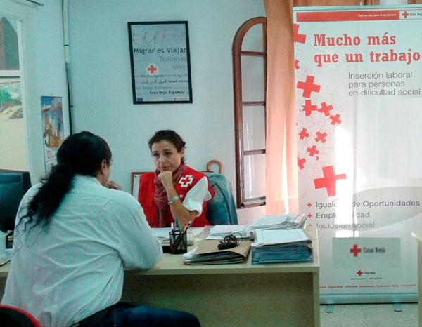 Servicio de empleo de la Cruz Roja en Huelva.