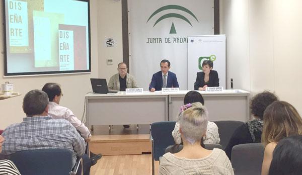 El delegado territorial de Economía, Innovación, Ciencia y Empleo, Manuel Ceada, clausuró en jornada de ayer la primera edición del programa 'DISEÑARTE'.
