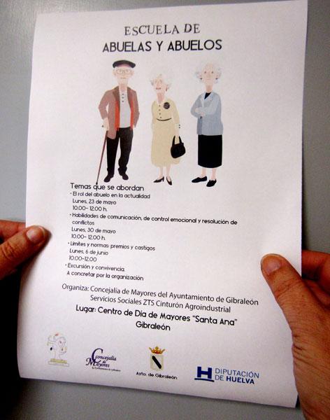Folleto sobre la Escuela de Abuelas y Abuelos.
