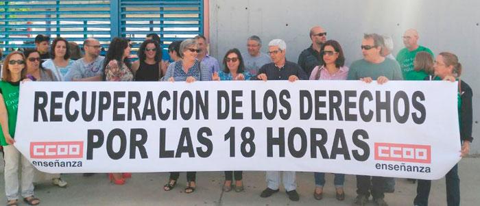 Imagen de la concentración en Aljaraque.