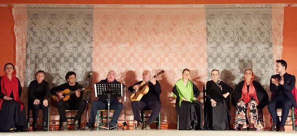 Imagen de una actuación del taller de musicoterapia.