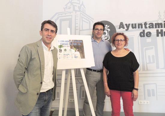 Presentación en el Ayuntamiento de Huelva de la II Copa Andaluza de Escalada Ciudad de Huelva.