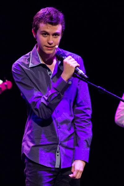 Roberto, durante su actuación el pasado 5 de abril en el Gran Teatro.