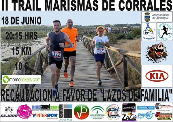 Cartel del II Trail Marismas de Corrales.