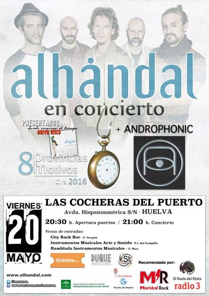 Cartel de los próximos conciertos en Las Cocheras del Puerto de Huelva