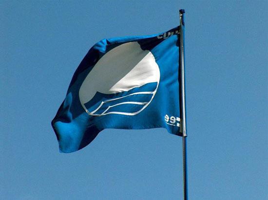 Imagen de una bandera azul.