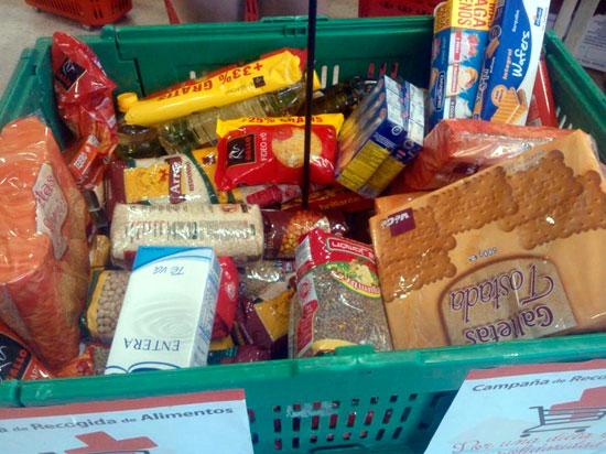 Imagen de algunos de los alimentos donados.