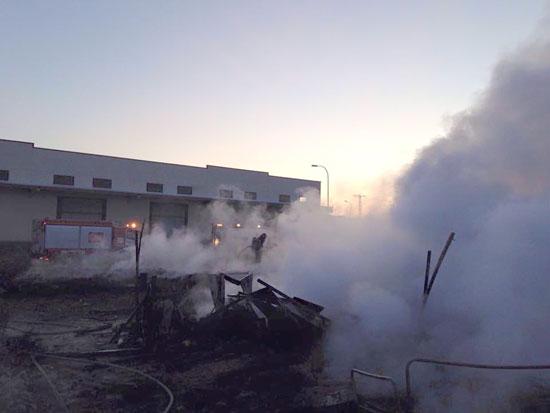 Imagen del incendio ocurrido el pasado domingo.