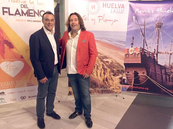 Ignacio Caraballo y Pepe El Marismeño durante la actividad promocional.