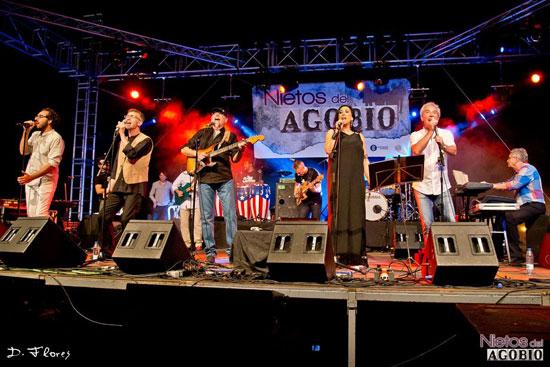 Imagen de una actuación del  festival 'Nietos del Agobio'.