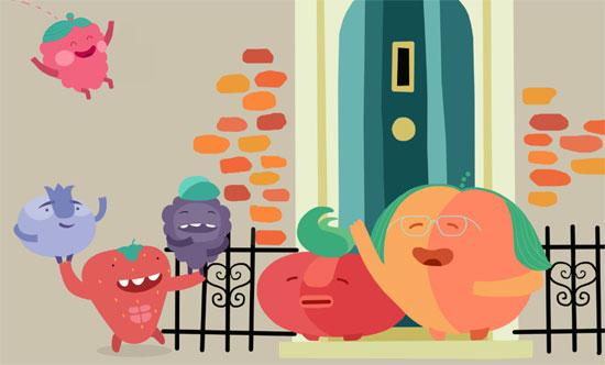 """Imagen del cómic de """"Súper berries""""."""
