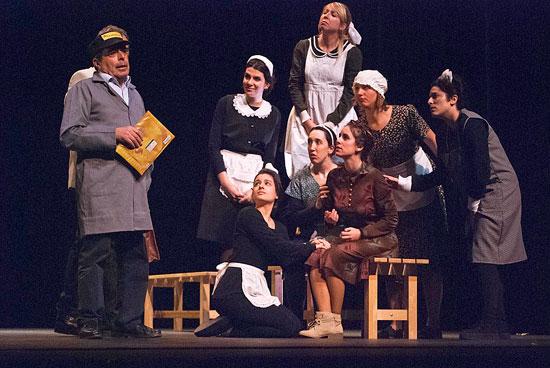 Una imagen de la representación de la obra.