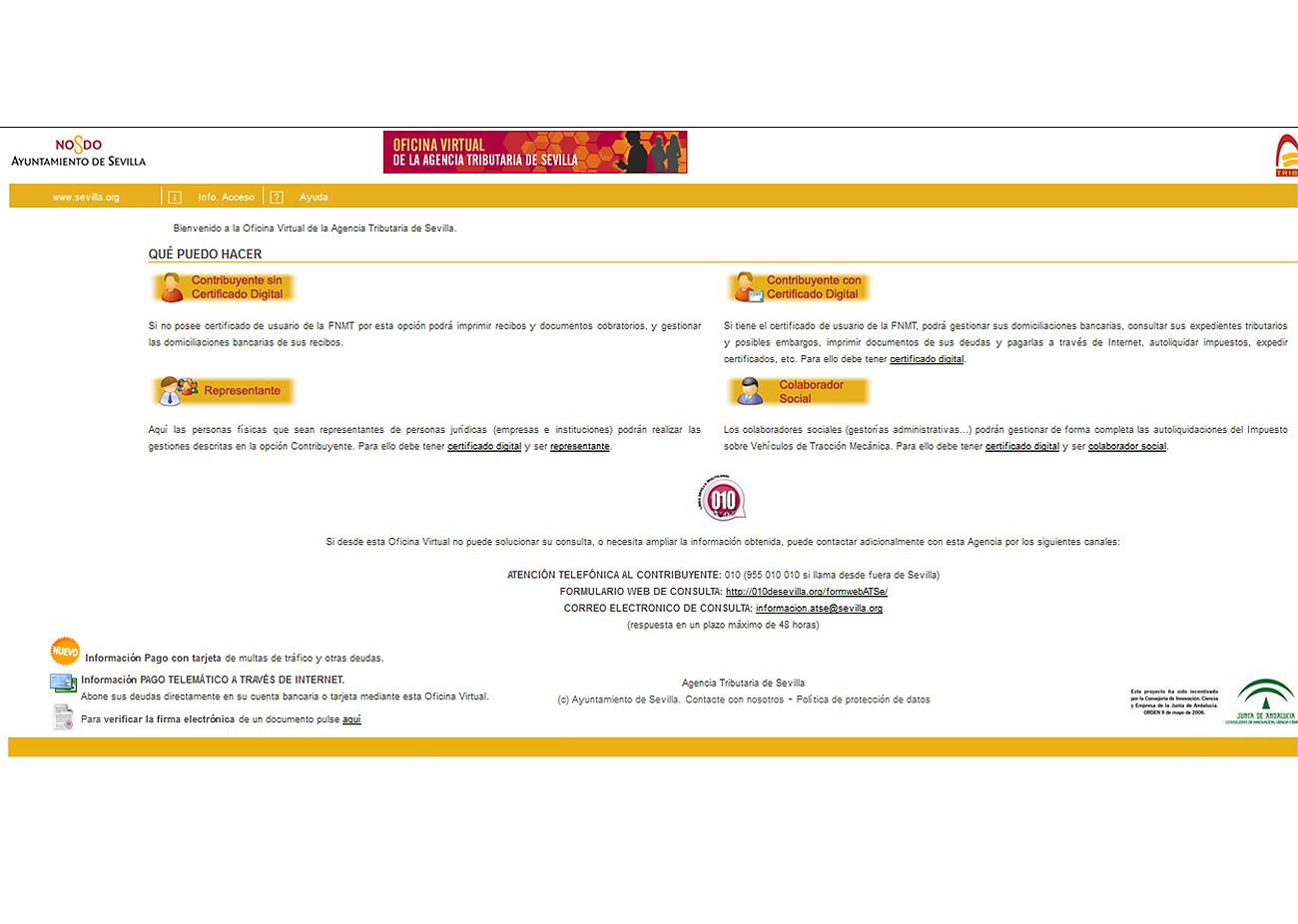 Imagen de la Web del Ayuntamiento de Sevilla.