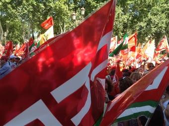 Imagen de una movilización del Sindicato Comisiones Obreras.