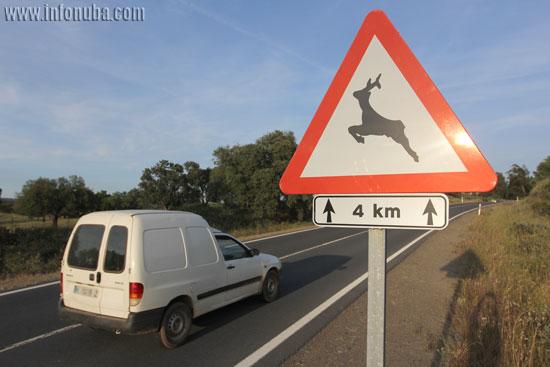 Señal que indica la presencia de fauna.