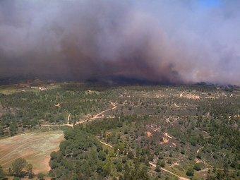 Imagen del incendio en Fuente la Corcha.