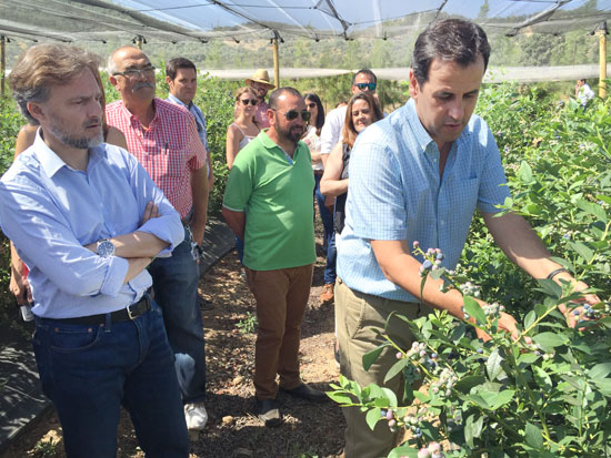 El consejero de Medio Ambiente, José Fiscal, durante su visita.